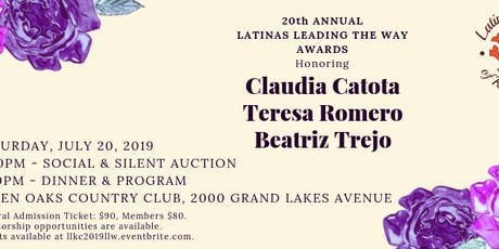 20th Annual Latinas Leading the Way Awards tickets