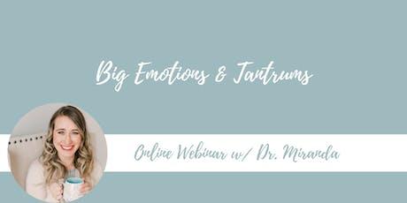 Webinar: Big Emotions and Tantrums tickets