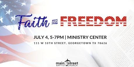 Faith & Freedom tickets