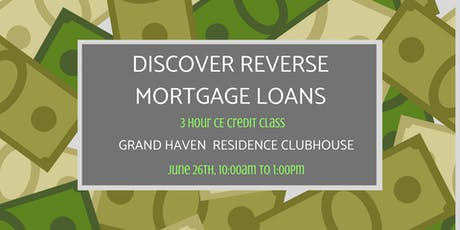 Discover Reverse Mortgage Loans tickets