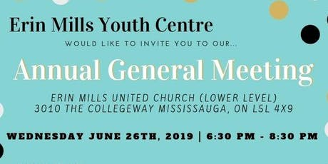 Erin Mills Youth Centre Annual General Meeting tickets