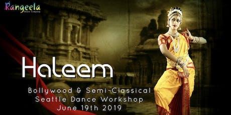 Haleem Khan Seattle Dance Workshops 2019 tickets