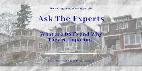 1031Exchange? DST's? Does this make sense for you?  Come ask the experts! tickets