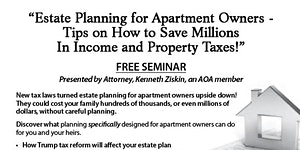Estate Planning for Apartment Owners – Tips on How to...