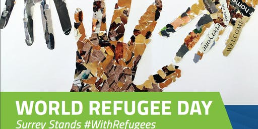 WORLD REFUGEE DAY:  SURREY STANDS #WithRefugees