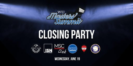 Masters Summit Closing Party