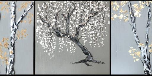 Mixed Media Tree Painting Class