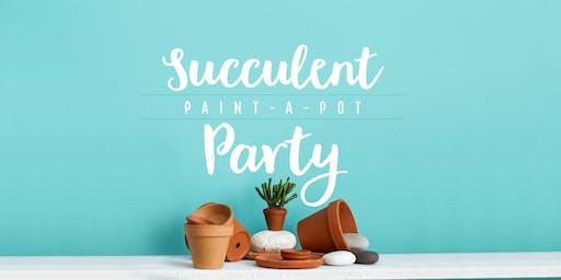 Succulent Paint a Pot Party