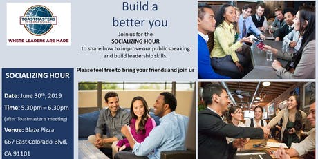 Socializing Hour - How to improve public speaking skills tickets