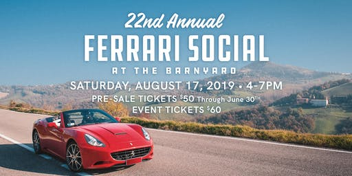 22nd Annual Ferrari Social at the Barnyard