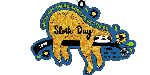 2019 Sloth Day 1 Mile, 5K, 10K, 13.1, 26.2 - Raleigh