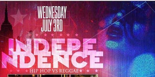Wednesday, 7/3: Hip-Hop Vs. Reggae Independence At Taj