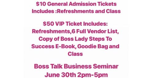 Boss Talk Business Seminar