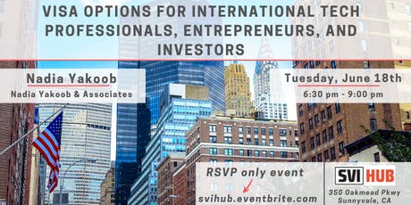 Visa Options for International Tech Professionals, Entrepreneurs, and Investors tickets