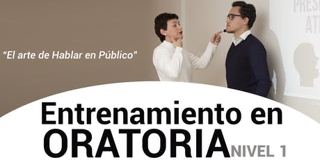 ENTRENAMIENTO EN ORATORIA - NIVEL 1 - CORRIENTES CAPITAL - 06/07 tickets