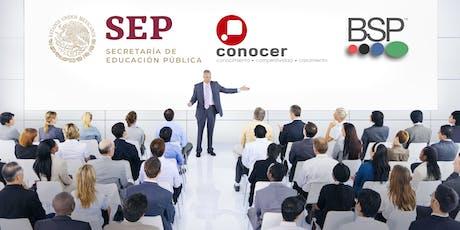 Info. Acreditate como Evaluador Ind. y comercializa certificaciones CONOCER boletos
