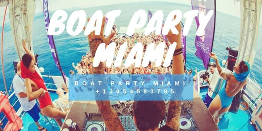 South Beach Miami Boat Party + Open Bar & Party-bus Unlimited drinks