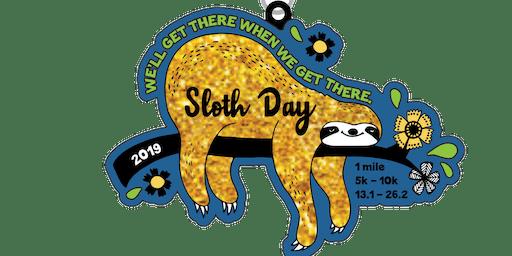 2019 Sloth Day 1 Mile, 5K, 10K, 13.1, 26.2 - Alexandria
