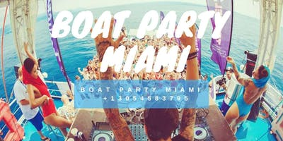 Miami Beach Boat Party + Open Bar & Party-Bus -Drinks Included