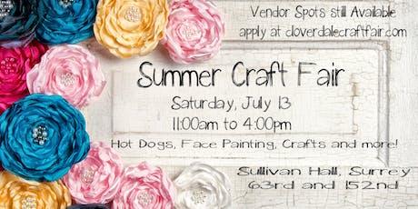 Summer Craft Fair & Craft Supply Garage Sale tickets