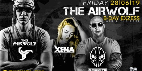 THE AIRWOLF B-DAY EXZESS feat. RADIATE & XENA excl. @TUNNEL - Fr 28.06.19 Tickets