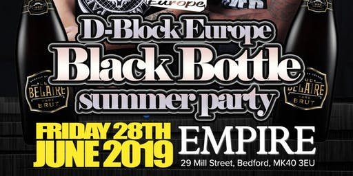 Dblock black bottle party