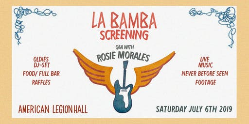 La Bamba Screening + Q&A With Rosie Morales + Live Music Event