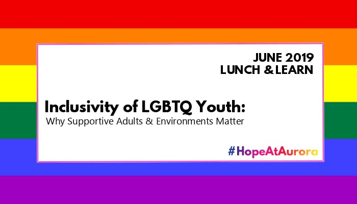 Lunch & Learn - Inclusivity of LGBTQ Youth