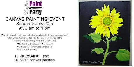 Sunflower -- Saturday, July 20th   9:30 am tickets