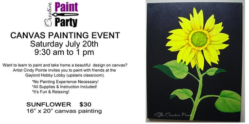 Sunflower -- Saturday, July 20th   9:30 am