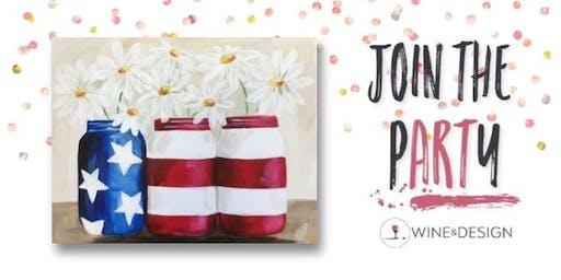 Sip + Paint | Patriotic Daisies