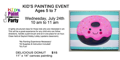 Kids Class--Delicious Donut --July 24  10 am