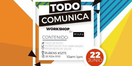 Todo Comunica Workshop boletos