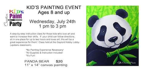 Kids Class--Panda Bear -- Wednesday, July 24   1pm tickets