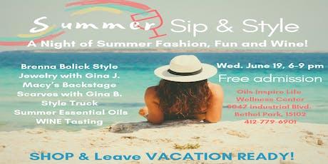 Summer Sip & Style tickets