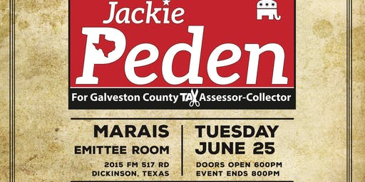Fundraiser to Elect Jackie Peden