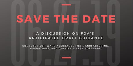 IoPP-PR: A Discussion on FDA's Anticipated Draft Guidance tickets