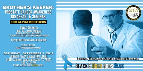 Brother's Keeper: Prostate Cancer Awareness Breakfast & Seminar tickets