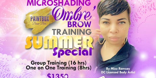 DMV - SUMMER SPECIAL OMBRE' BROWS MICROSHADING - MACHINE MICROBLADING