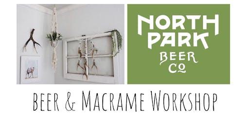 Macrame Plant Hang Workshop at North Park Beer Co.
