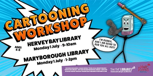 Cartooning Workshop with Toonworld - Hervey Bay Library - Ages 5-8