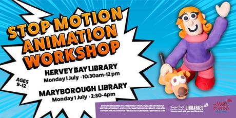 Stop Motion Animation Workshop with Toonworld - Hervey Bay Library - Ages 9-12 tickets