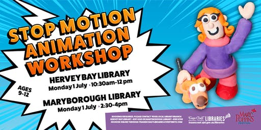 Stop Motion Animation Workshop with Toonworld - Maryborough Library - Ages 9-12