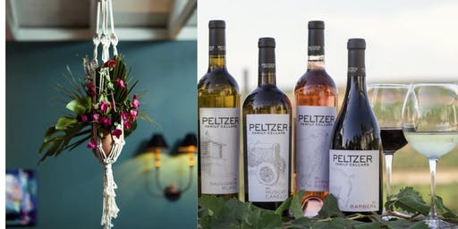 Wine & Macrame Workshop at Peltzer Winery
