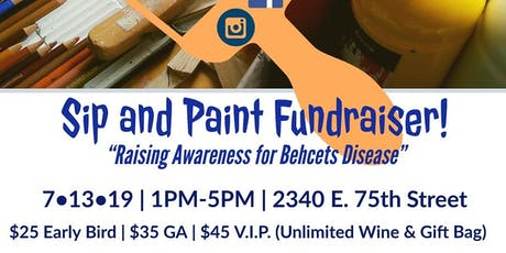 1st Annual Sip & Paint - Raising Awareness for Behcets Disease tickets