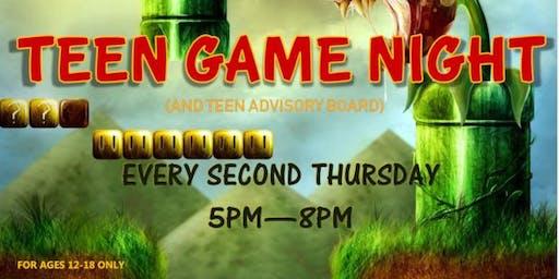 Teen Game Night & TAB