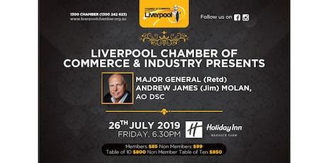 Liverpool Chamber Presents - Major General (Retd) Andrew James Molan tickets