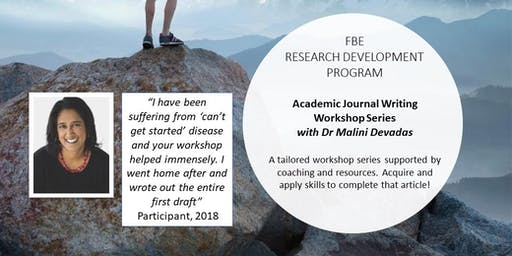 Academic Journal Writing Workshop Series 2