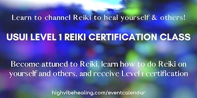 USUI REIKI LEVEL 1 CERTIFICATION CLASS