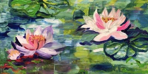 Monet Water Flowers - Painting Party in Albert Park (BYO)